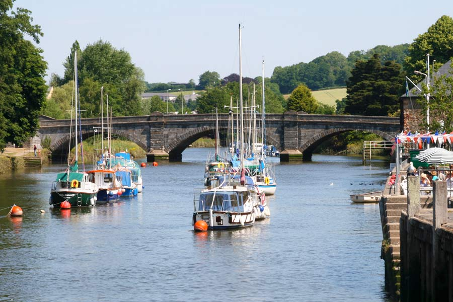 The river Dart at Totnes